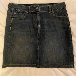 Ann Taylor Denim Mini Skirt Size 4P